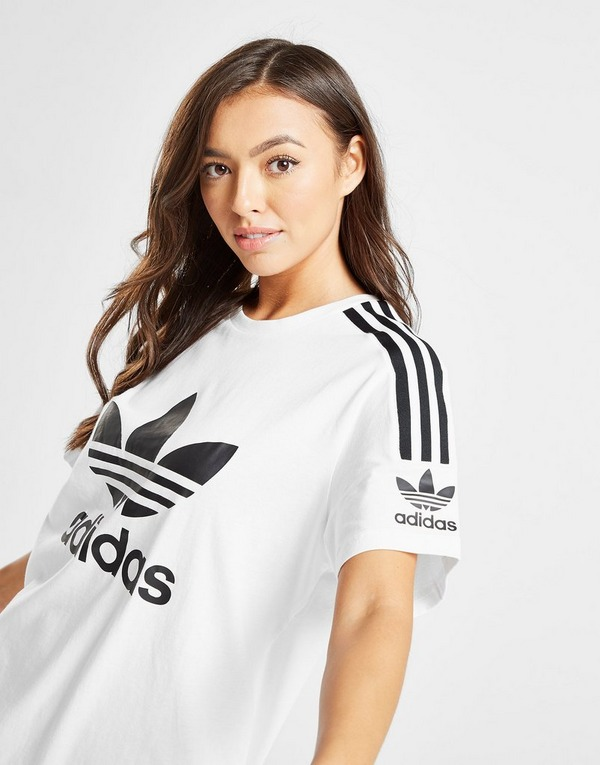 Koop Wit adidas Originals 3 Stripes Lock Up Boyfriend T