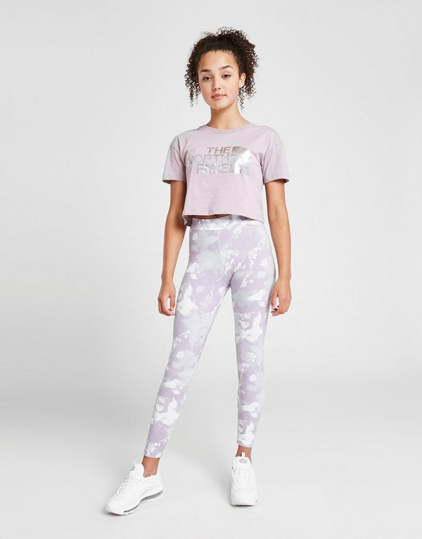 The North Face Girls' All Over Print Logo Leggings Junior