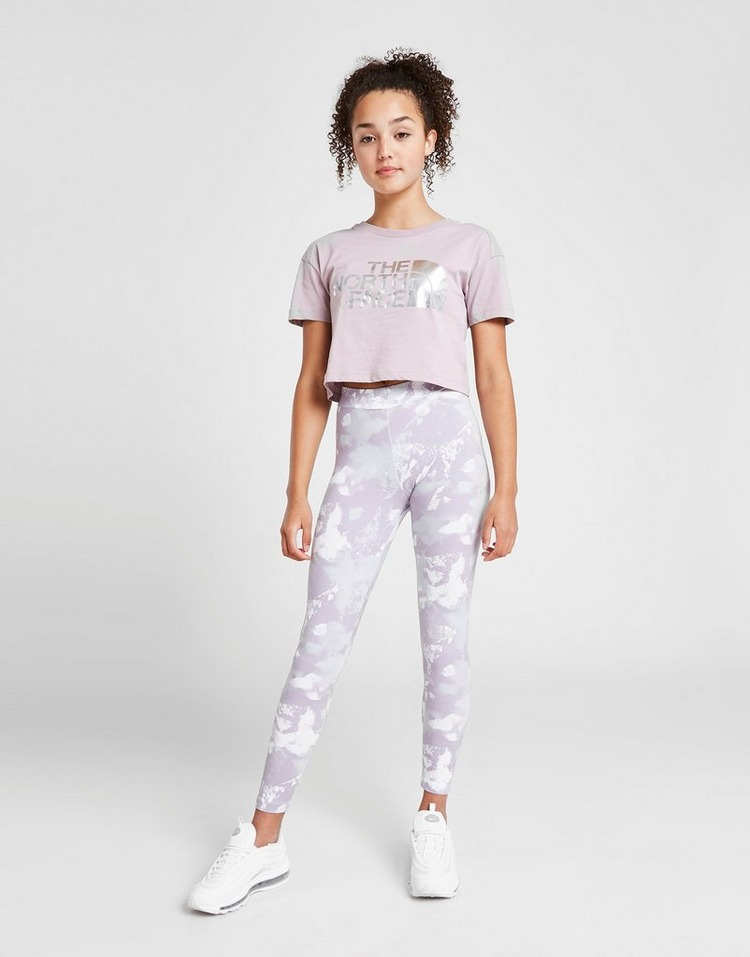 The North Face Girls' All Over Print Logo Leggings Junior