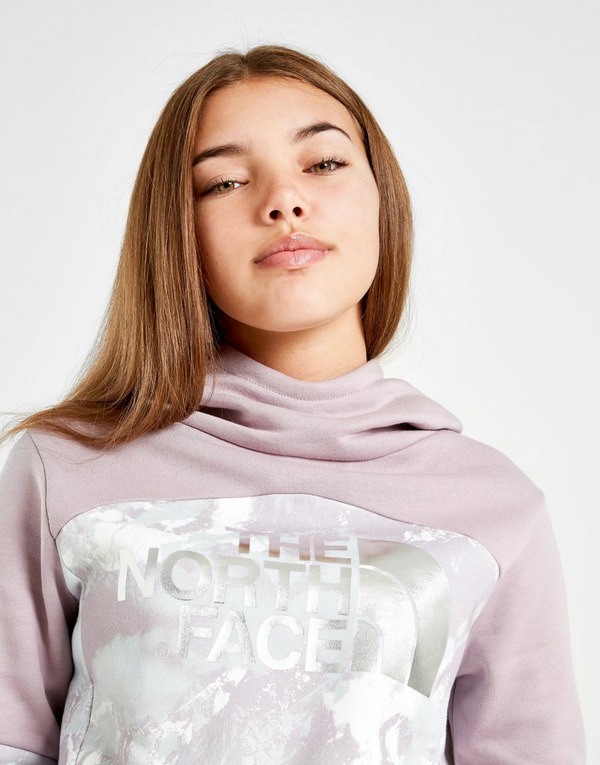 The North Face Girls' Crop Colour Block Overhead Hoodie Junior