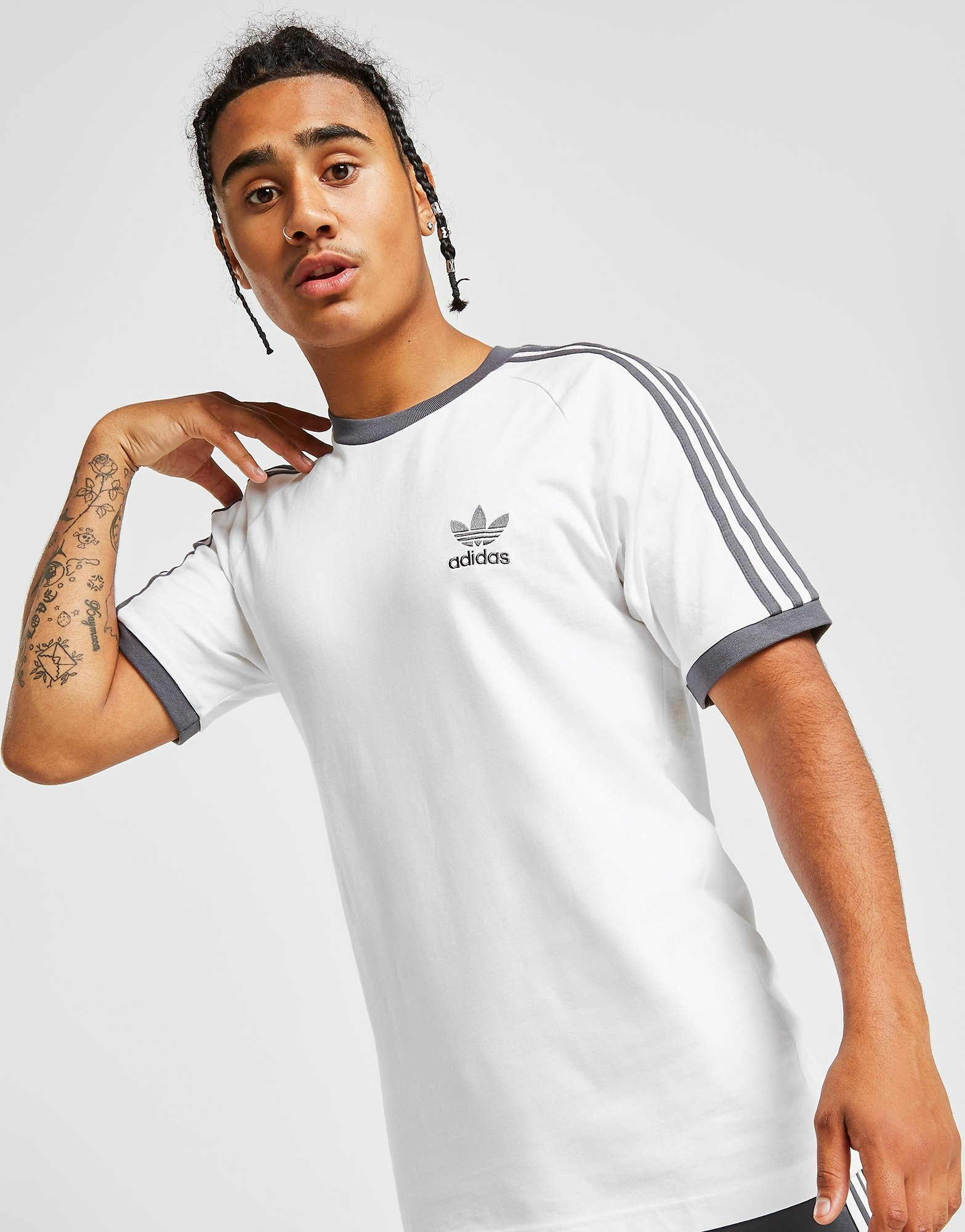 adidas california t shirt uomo bianca
