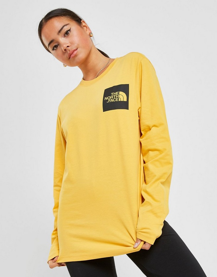The North Face Box Long Sleeve Boyfriend T-Shirt Dames
