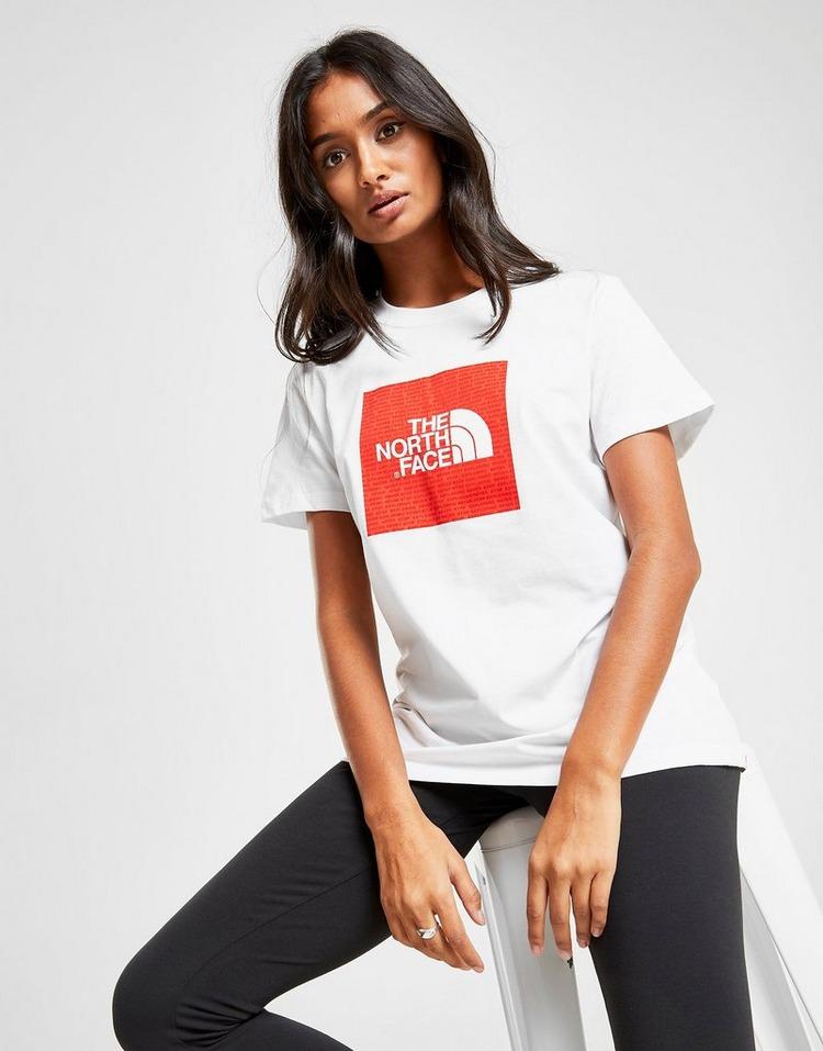 Køb The North Face Box Logo Boyfriend T Shirt Dame i Hvid