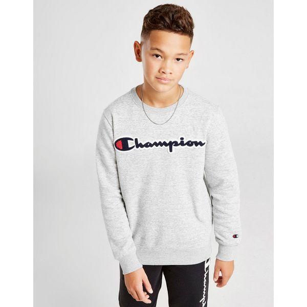 Champion Fleece Logo Crew Sweatshirt Junior