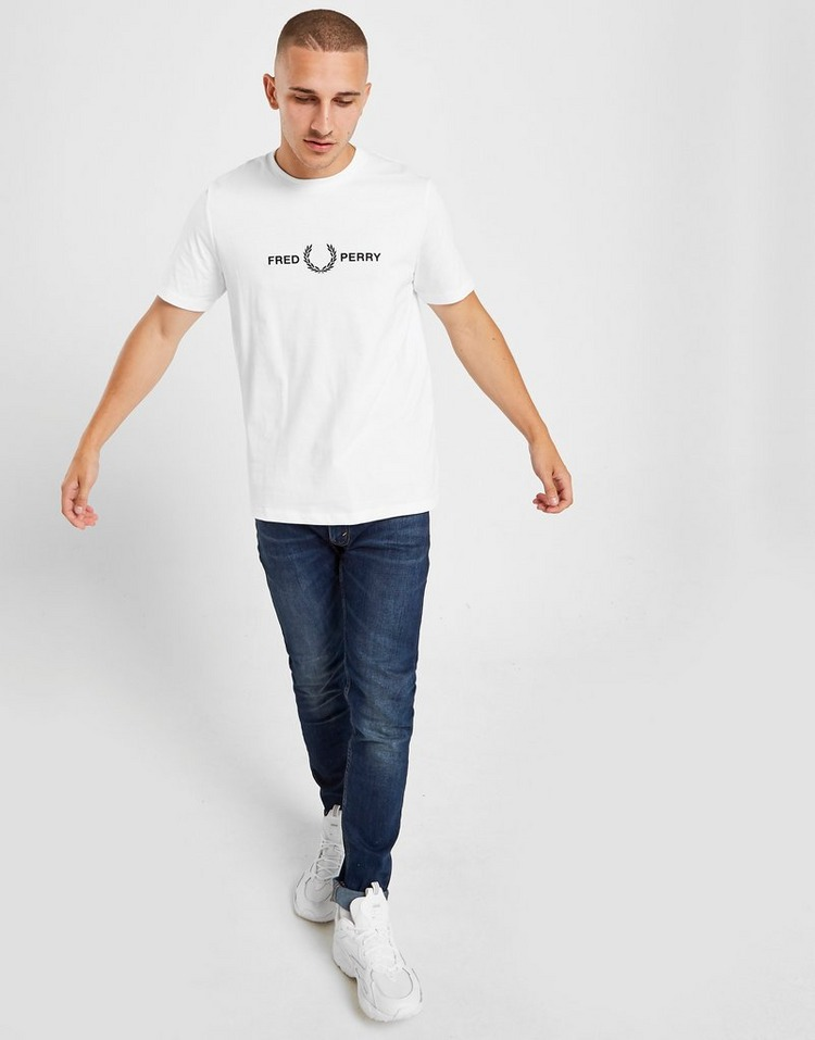 Fred Perry T-Shirt Manches Courtes Embroidered Logo Homme