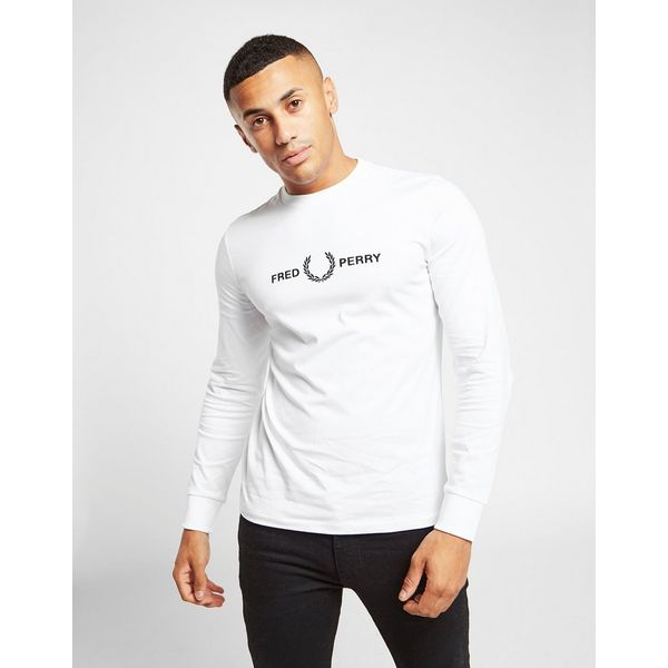 Fred Perry Embroidered Long Sleeve T-Shirt