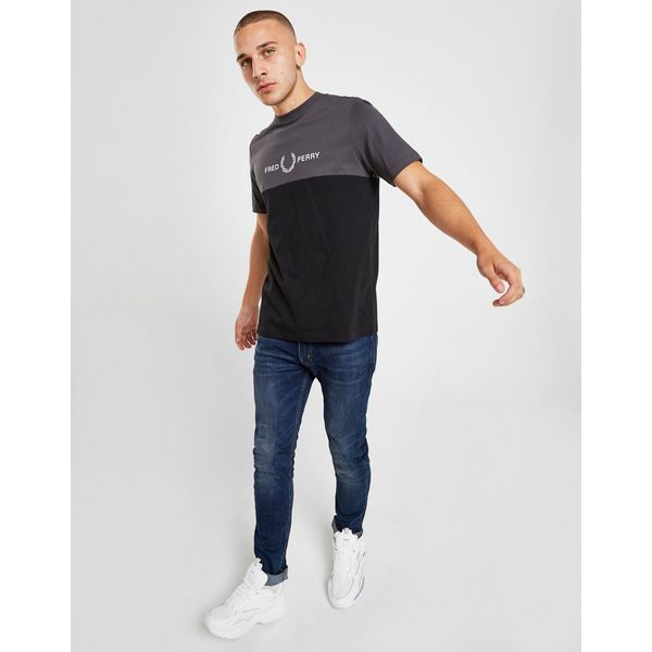 Fred Perry Colour Block Embroidered Logo T-Shirt