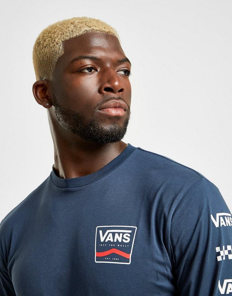 Vans Repeat Check Long Sleeve T-Shirt Heren