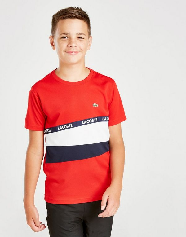 Lacoste Colour Block Tape T-Shirt Junior