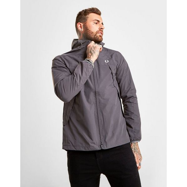 Fred Perry Panelled Zip Through Hooded Jacket