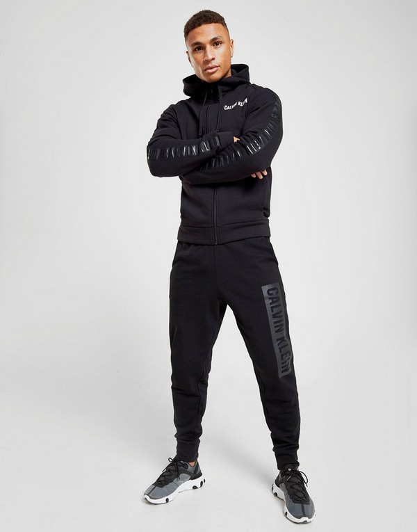 Calvin Klein Performance Tonal Tape Zip Through Hoodie