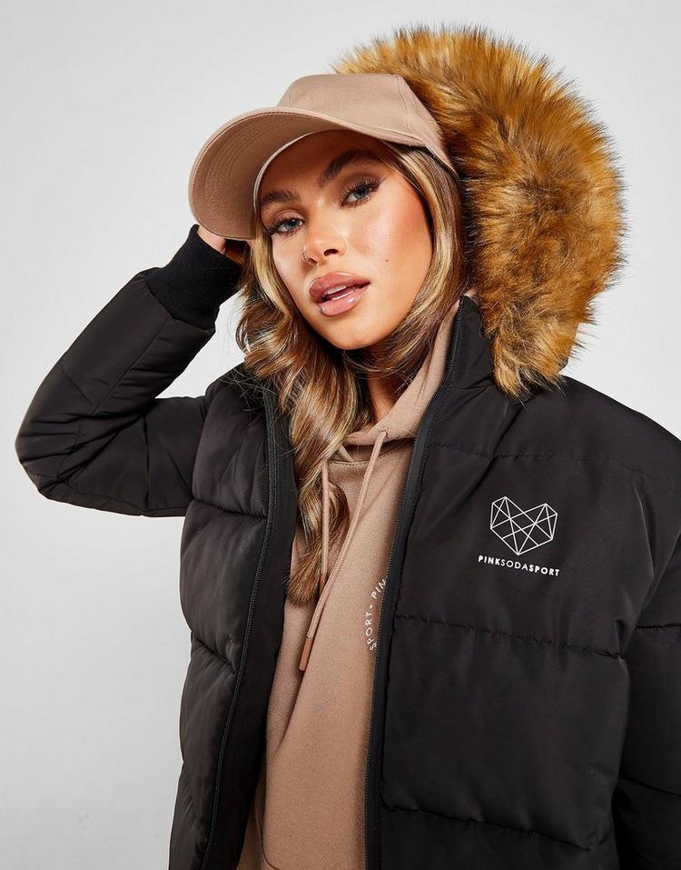 Pink Soda Sport Fur Hood Padded Jacket