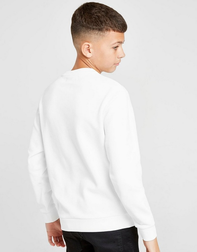 Fred Perry Colour Bloc Panel Piped Crew Sweatshirt Junior