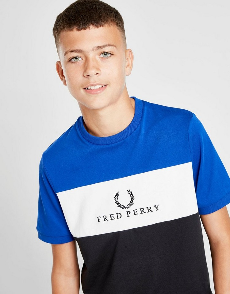 Fred Perry Colour Block Panel Logo T-Shirt Junior