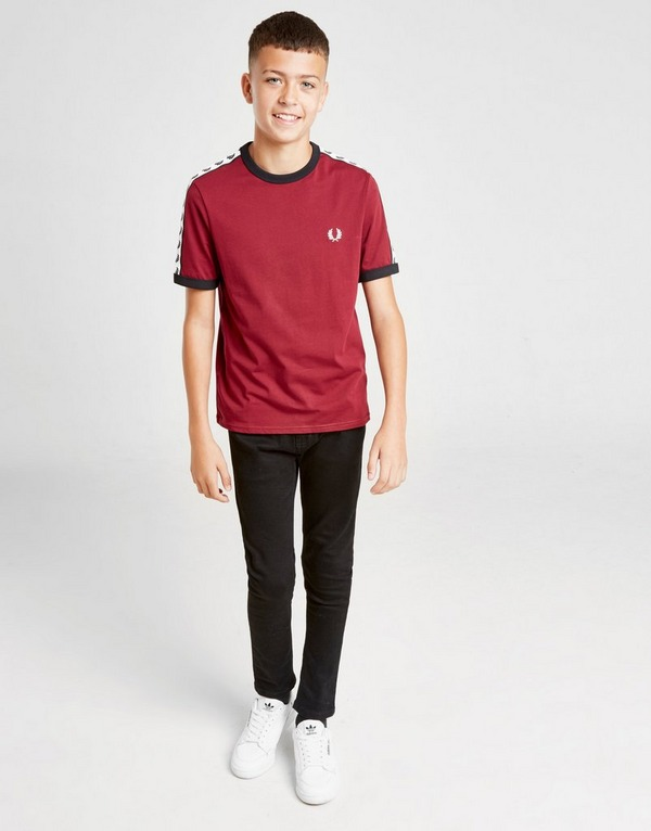 Fred Perry Small Logo Tape Ringer T-Shirt Junior