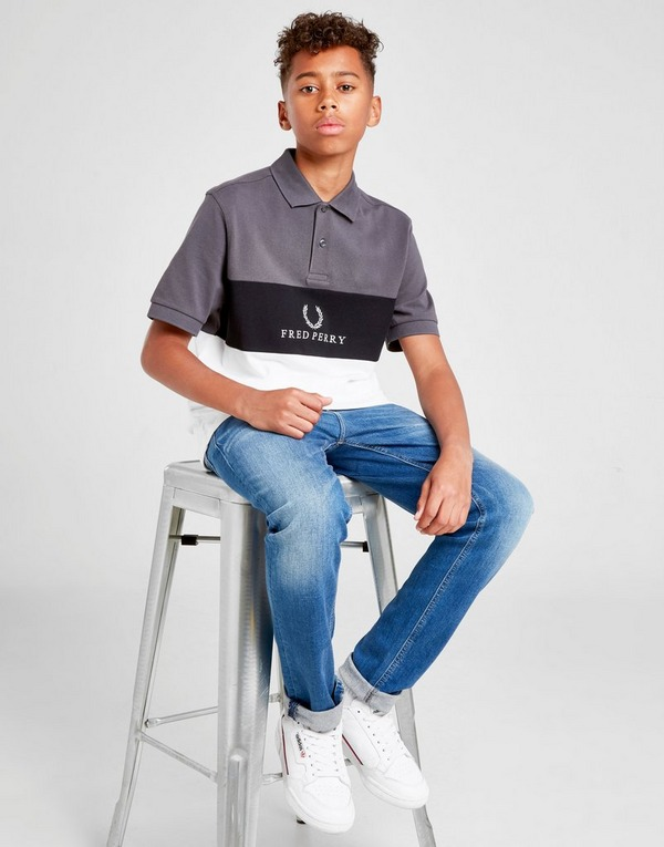 Fred Perry Short Sleeve Panel Polo Shirt Junior