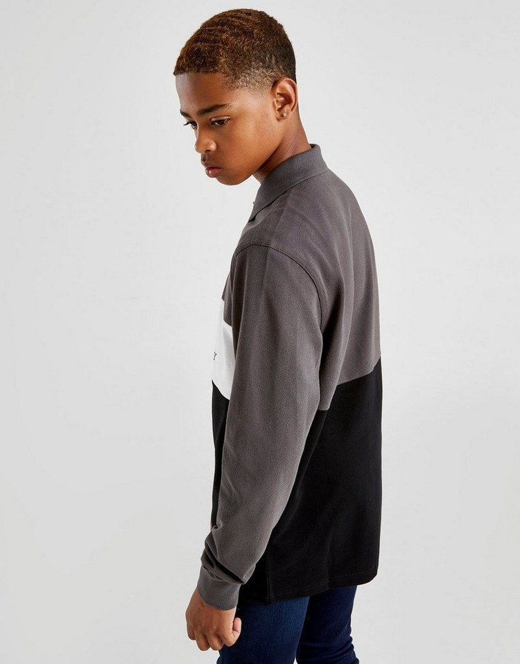 Fred Perry Long Sleeve Panel Polo Shirt Junior