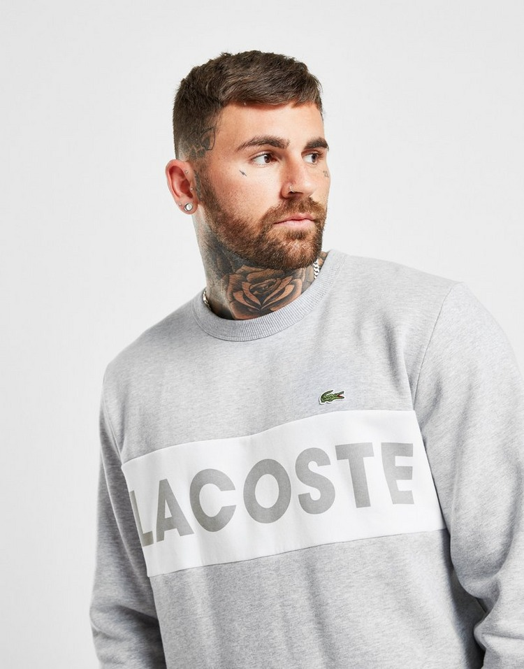 Lacoste Colour Block Linear Crew Sweatshirt