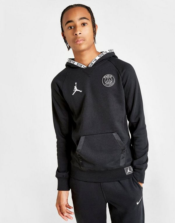 Jordan x Paris Saint Germain Logo Hoodie Junior