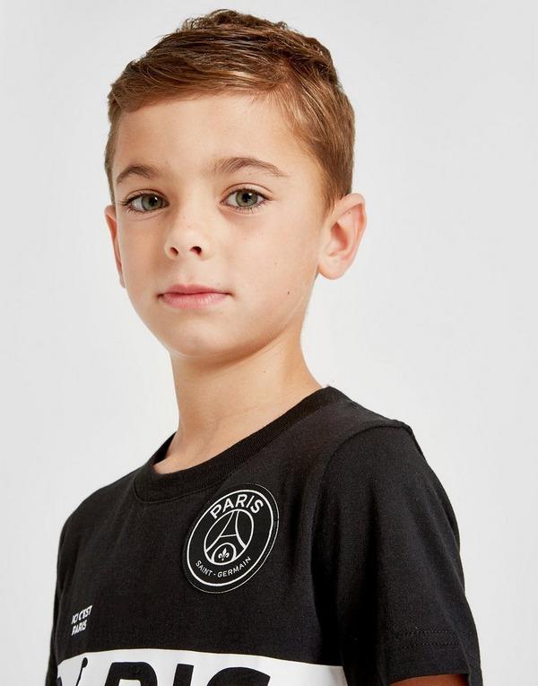Jordan camiseta x Paris Saint Germain Wordmark infantil