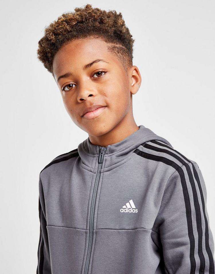adidas Badge of Sport Fleece Full Zip Hoodie Junior