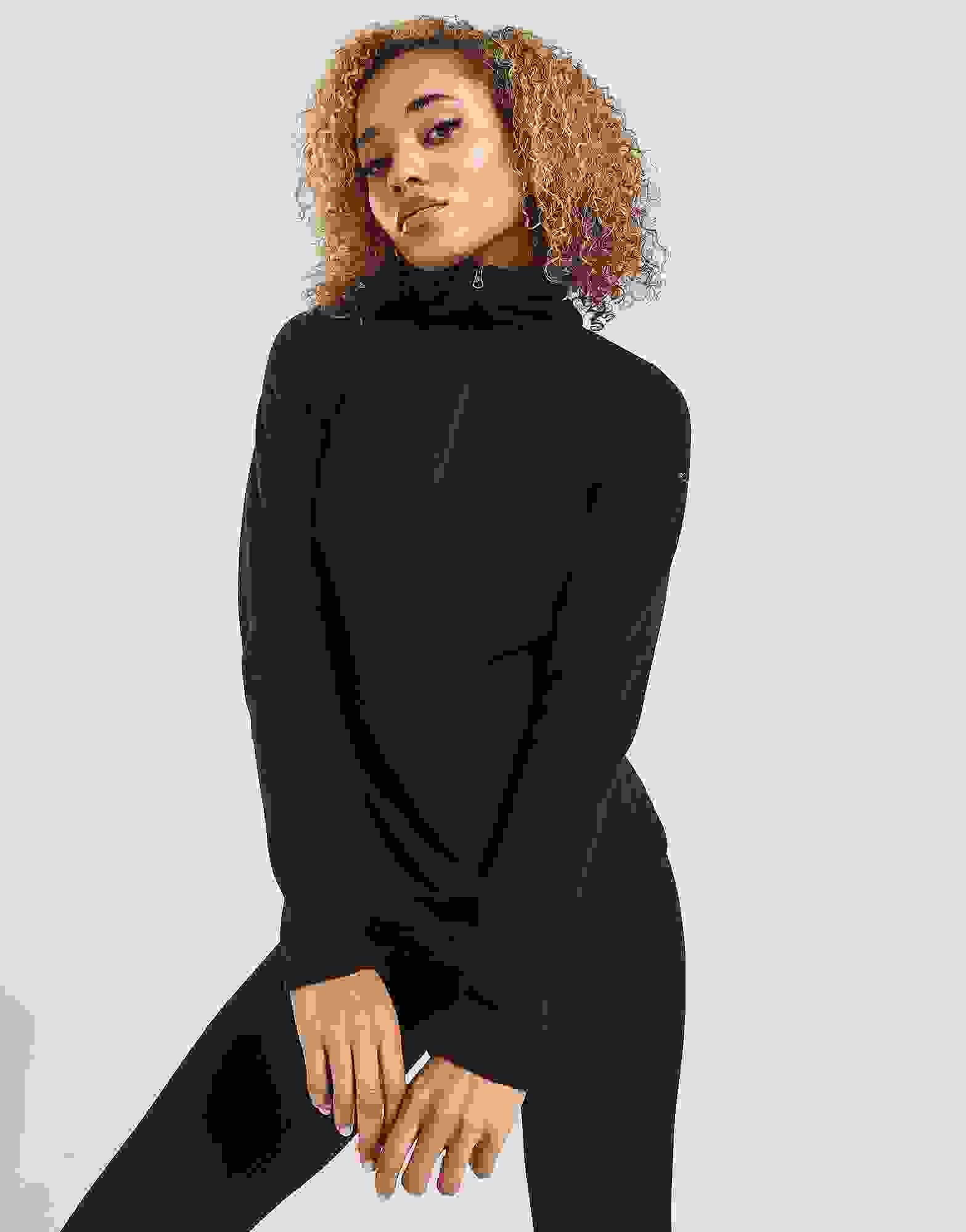 Columbia Femme glaciaires IV Demi Zip Polaire Top-Noir