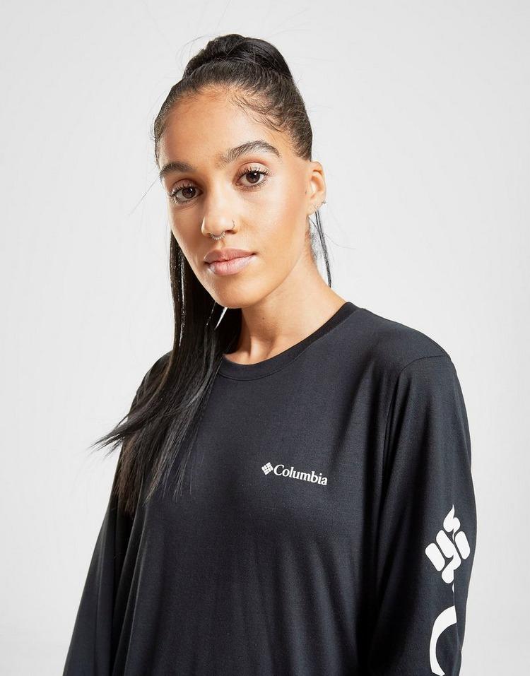 Columbia Logo Long Sleeve Boyfriend T-Shirt