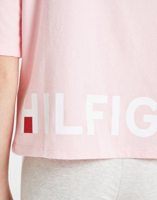 Tommy Hilfiger Girls' Sport Logo Cropped T-Shirt Junior