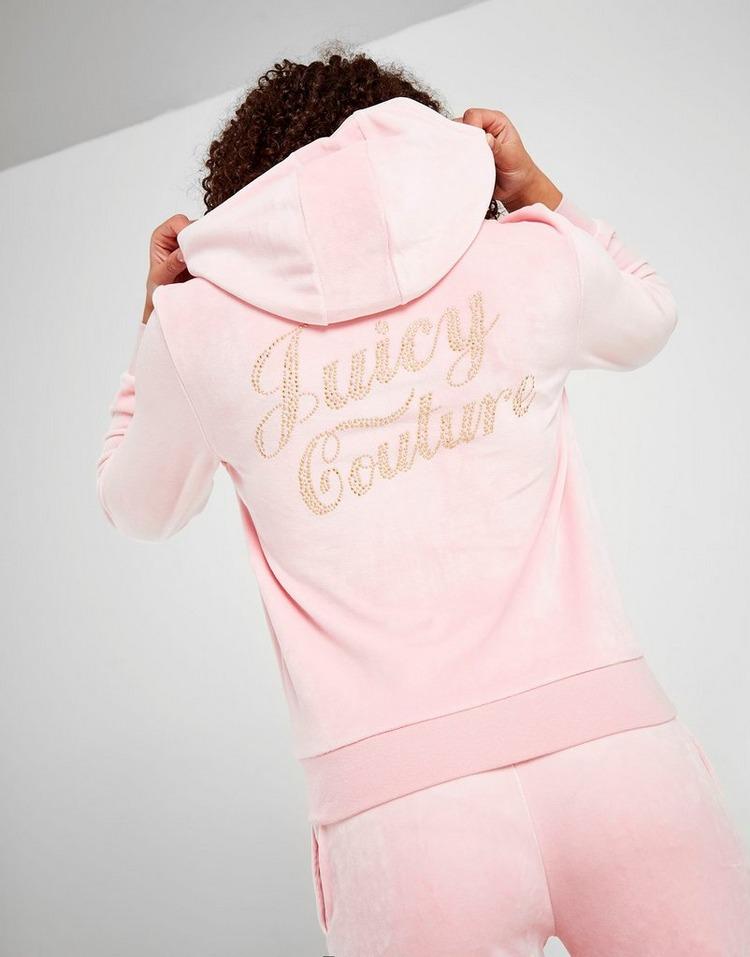 Juicy by Juicy Couture Girls' Velour Zip Hoodie Junior