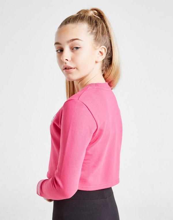 Juicy by Juicy Couture Girls' Crop Crew Sweatshirt Junior