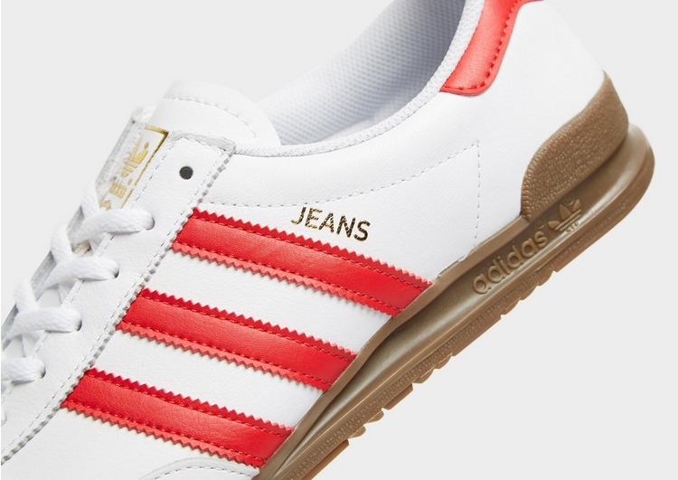 Buy White adidas Originals Jeans Leather | JD Sports
