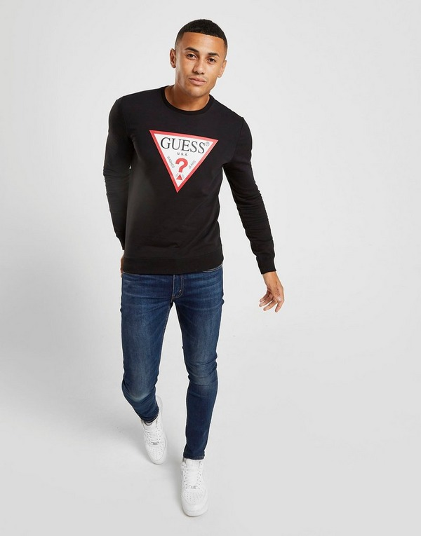 GUESS Triangle Logo Sweatshirt