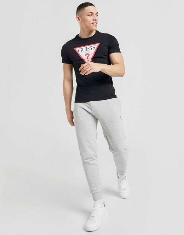 Koop Zwart Guess Triangle Logo T Shirt | JD Sports