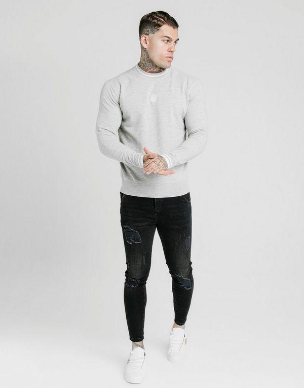 SikSilk Inset Crew Sweatshirt