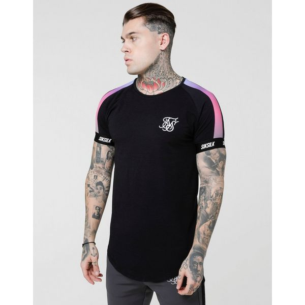 SikSilk Fade Panel Tech T-Shirt