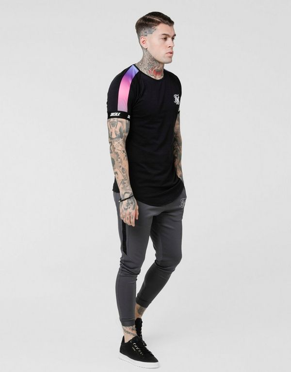 SikSilk camiseta Fade Panel Tech