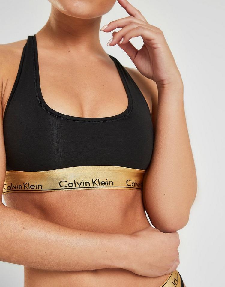 Calvin Klein Underwear Metallic Bra and Thong Set