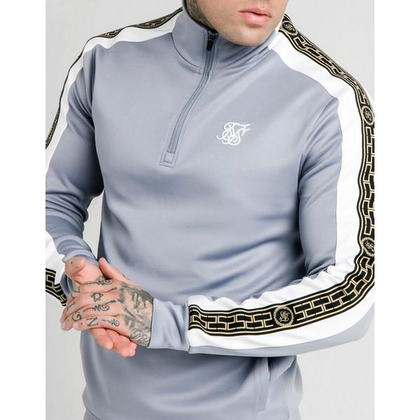 SikSilk Panel Cartel 1/4 Zip Track Top