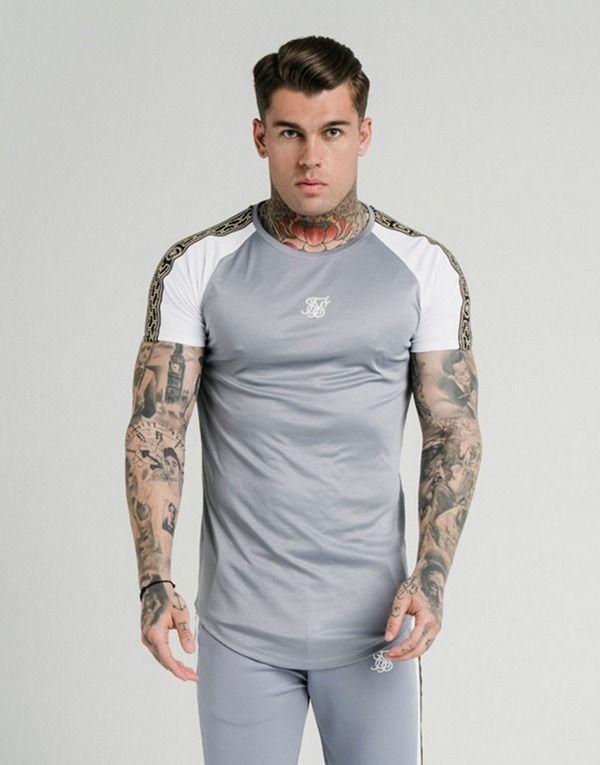SikSilk Cartel Tape Raglan T-Shirt