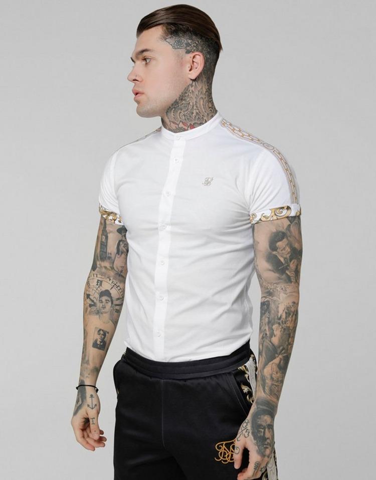 SikSilk Short Sleeve Cartel Collar Shirt