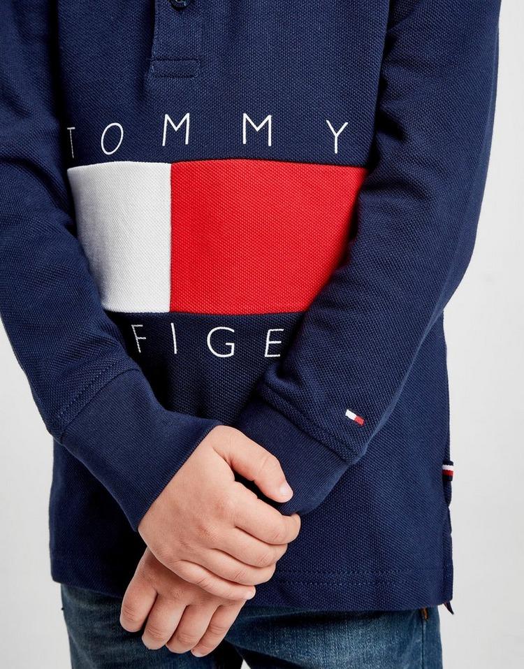 Tommy Hilfiger Colour Block Long Sleeve Polo Shirt Children