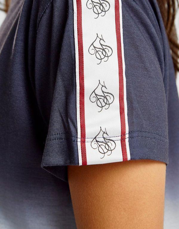 SikSilk Tape Fade Crop T-Shirt