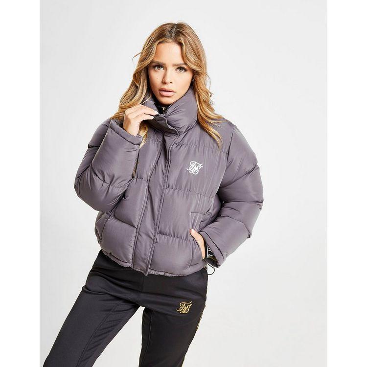 SikSilk Crop Padded Jacket