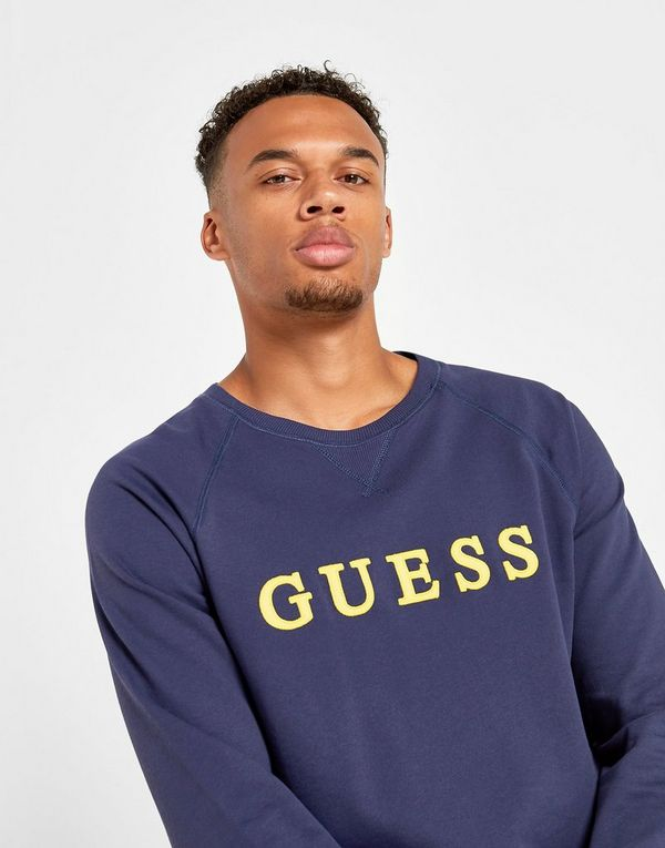 GUESS Embroidered Crew Sweatshirt