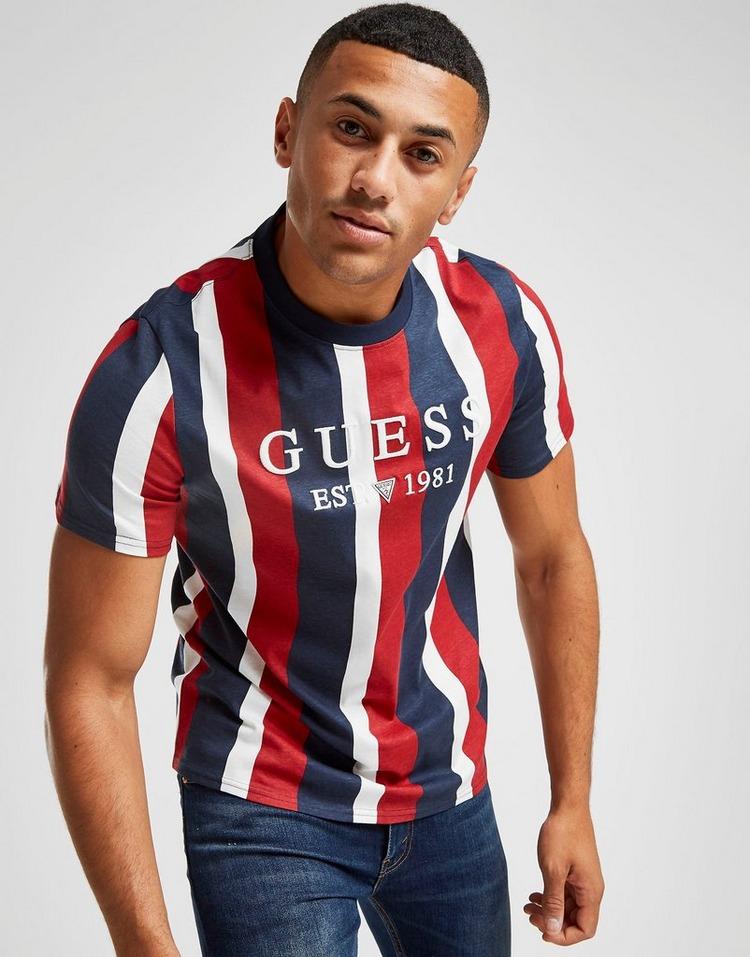Guess Vertical Stripe T-Shirt Heren