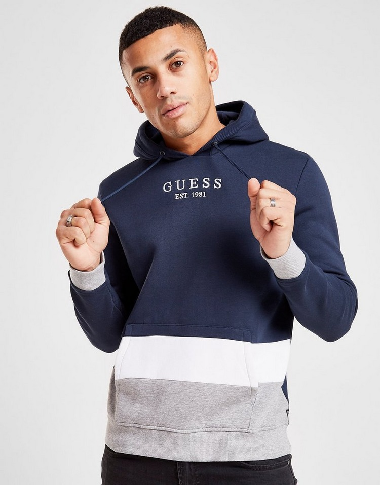 Guess Cut and Sew Colour Block Hoodie