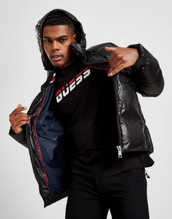 Koop Zwart Guess Down Puffer Jacket | JD Sports