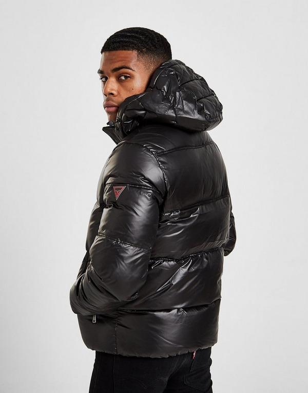 Koop Zwart Guess Down Puffer Jacket | JD Sports