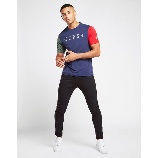 GUESS Contrast Sleeve T-Shirt