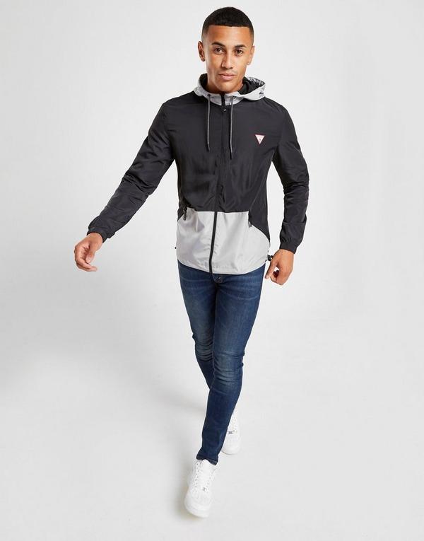 Koop Zwart Guess Colour Block Lightweight Jacket Heren | JD